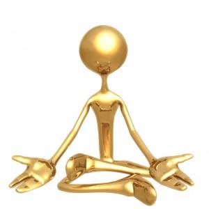 Sitting meditation figure
