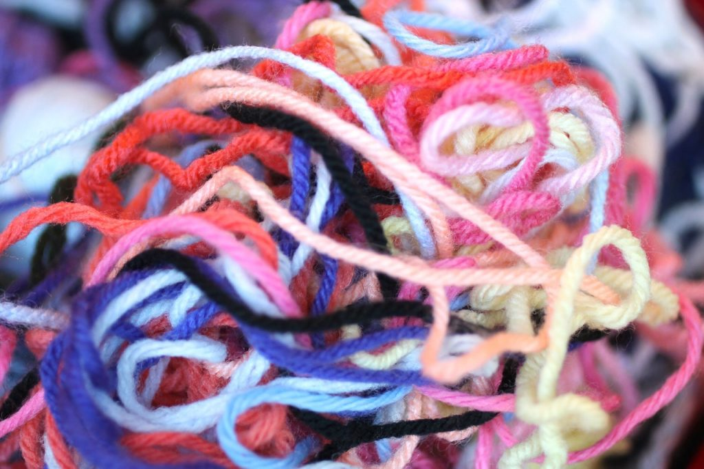 threads of yarn